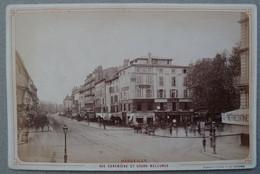 Photo Albuminé Marseille Canebière Et Belsunce Vers 1870/80 - Anciennes (Av. 1900)