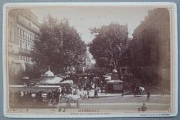 Photo Albuminé Marseille Marché Aux Fleurs Cours St Louis Vers 1870/80 - Anciennes (Av. 1900)