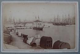 Photo Albuminé Marseille Le Port Quai Bateau Vers 1870/80 - Anciennes (Av. 1900)