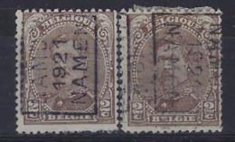 Koning Albert I Nr. 136 Type III Voorafgestempeld Nr. 2684 A + B NAMUR 1921 NAMEN ; Staat Zie Scan ! - Rollo De Sellos 1920-29