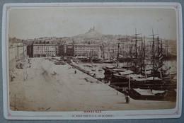 Photo Albuminé Marseille Cle Vieux Port Vers 1870/80 - Anciennes (Av. 1900)