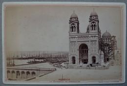 Photo Albuminé Marseille La Joliette Et La Major Vers 1870/80 - Anciennes (Av. 1900)