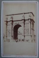Photo Albuminé Marseille La Porte D'Aix Vers 1870/80 - Anciennes (Av. 1900)