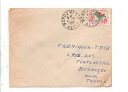 ALGERIE SEUL SUR LETTRE DE BORDJREDIR POUR LA FRANCE 1964 - Algeria (1962-...)