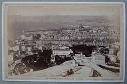 Photo Albuminé Marseille Vue Générale Sur Le Port Vers 1870/80 - Anciennes (Av. 1900)