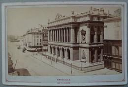 Photo Albuminé Marseille La Bourse La Canebière Vers 1870/80 - Anciennes (Av. 1900)