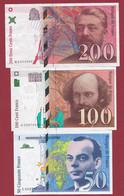 France 3 Billets (DERNIERE GAMME TRES BON ETAT) Lot N °1 - Unclassified