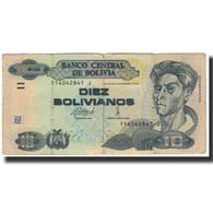 Billet, Bolivie, 10 Bolivianos, KM:204a, B - Bolivia