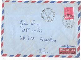 LETTRE DE LA REUNION .PAR AVION. .PLAINE DES PALMISTES..1976.. N° 1809 BEQUET.  BE. - 1961-....