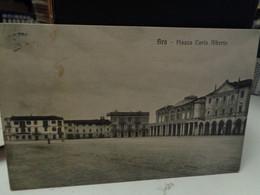 Cartolina Bra Piazza Carlo Alberto Prov Cuneo  1915 - Cuneo
