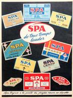 Publicité Papier SPA EAU LIMONADE  1961 PLM P1051614 - Reclame