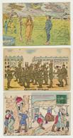 Lot De 10 Cartes Fantaisie - Humour - Militaria - Militaire - Illustrateurs Signés - 5 - 99 Cartoline