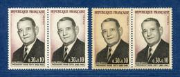⭐ France - Variété - YT N° 1412 - Couleurs - Pétouille - Neuf Sans Charnière - 1964 ⭐ - Varieties: 1960-69 Mint/hinged