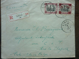 1923  Lettre  2 Timbres  Cachet LIMAL    PERFECT - Covers & Documents