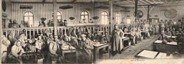D51  CHÂLONS SUR MARNE  Cantine Des Deux Drapeaux Pour Les Permissionnaires Salle De Restaurant ....CARTE DOUBLE - Châlons-sur-Marne