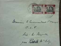 1923  Lettre  2 Timbres  Cachet Postes Militaires    PERFECT - Covers & Documents