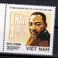 VIETNAM, 2018, MNH, MARTIN LUTHER KING ,1v - Martin Luther King
