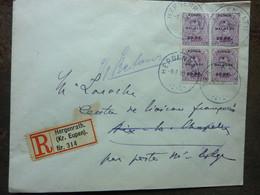 1920  Lettre 4 Timbres  EUPEN MALMEDY   Cachet HERGENRATH   PERFECT - Storia Postale