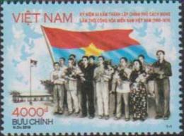 VIETNAM, 2019, MNH, LIBERATION, FLAGS, 1v - Sonstige