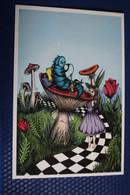 """Alice In Wonderland"" By Painter Erofeeva - Modern Russian PC - Mushroom - Champignon - Funghi"