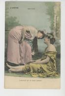 """FEMMES - FRAU - LADY - Jolie Carte Fantaisie Couple Femmes """"L'AMITIÉ """" - Encore - Edit. G.I.D. NANTES - Femmes"""