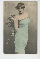 FEMMES - FRAU - LADY - Jolie Carte Fantaisie Femme - EXPERIENCE DE TELEGRAPHIE SANS FIL - Edit. G.I.D. NANTES - Donne