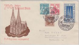 Bizone - 700 J. Kölner Dom Satz A. Schmuck-FDC ESST Köln 15.8.49 - Zona Anglo-Américan