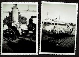 2 Photos Originales 8,5 X 6 Cm - Ostende - Juillet 1947 - Voir Scan - Places
