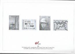 Belg. 2021 - Feuillet Noir & Blanc N° 2/5 ** -  (Premier Jour 15 Mars 2021) - Hojas Blanco & Negro