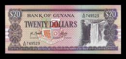 Guyana 20 Dollars 1989 Pick 27b SC UNC - Guyana
