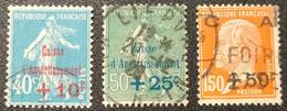 N° 246 à 248  Avec Oblitération Cachet à Date  TTB - Used Stamps