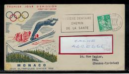 YT  1115A SSL ILLUSTREE J.O. MONACO 1956 OBL FL 2/7/59  HYGIENE DENTAIRE CHEMIN DE LA SANTE - Medicina