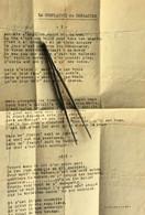 WW2 Chanson Refrain-Air:Les Soldats De La République-☛La Complainte Du Brigadier-☛Doc Militaire Dactylographié Militaria - Documenten