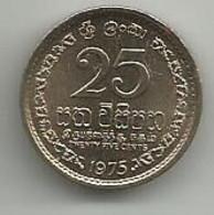 Sri Lanka 25 Cents 1975. Km#141 - Sri Lanka