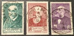 N° 377/380/378  Avec Oblitération Cachet à Date Centrale De 1938  TB - Used Stamps