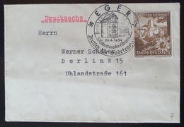 Deutsches Reich 1939, Drucksache EGER Sonderstempel - Covers & Documents
