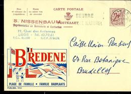 Publibel Obl. N° 1951 ( Plage De Famille - BREDENE ) Obl. LIEGE 1963 - Publibels
