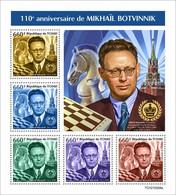 CHAD 2021 - Mikhail Botvinnik, Chess. Official Issue [TCH210246] - Ajedrez