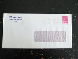 LYON RP - RHONE - FLAMME LES CHEQUES POSTAUX TIENNENT VOTRE CAISSE SUR MARIANNE BEQUET - ENTETE SEDAT  IRIGNY - Mechanical Postmarks (Advertisement)