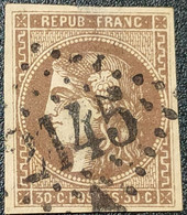 Emission De Bordeaux N° 47 Avec Oblitération Losange 2145 Etat Bien - 1870 Bordeaux Printing
