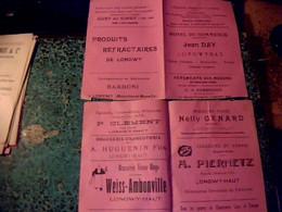 Vieux Papier Publicité Dépliant 2 Pages Différents Commerces Et Enseignes De Longwy - Haut Année?? - Pubblicitari