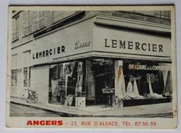 Calendrier 1969 Magasin Lemercier Tissus Angers 23 Rue D'Alsace Et Cholet 99 Rue Nationale - Small : 1961-70