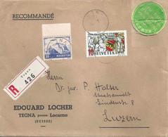 "R Brief  ""Locher, Tegna"" - Luzern           1941 - Storia Postale"