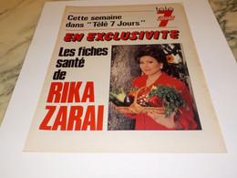 PUBLICITE  RIKA ZARAI   1986 - Unclassified