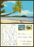 Seuchelles   Mahe Beach Bikini Girl Nice Stamp #19625 - Seychelles