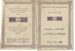 Ref: 21065 - Broderie- Manufacture Parisienne Des Cotons L.V, Album De Lettres Au Point De Marque  , Série B-n° 86 - Other