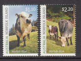 2020 Norfolk Island Norfolk Blue Cattle Agriculture  Complete Set Of 2 MNH @ BELOW FACE VALUE - Norfolkinsel