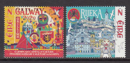 2020 Ireland Capitals Of Culture JOINT ISSUE Croation Complete Set Of 2 MNH @ BELOW FACE VALUE - Ungebraucht