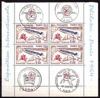 1422 - Philatec 1964 - 1/2 Bloc De 4 Exemplaires - 3 Ex. Neufs N** Et 1 Ex. Obl. - Très Beau - Ungebraucht
