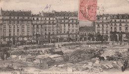 DPT 75 PARIS Montmartre Panorama De La Rue Caulaincourt Pendant Sa Transformation Travaux CPA TBE - Unclassified